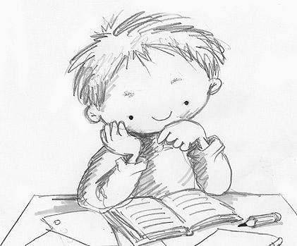 Resultat d'imatges de nens estudiant dibuix