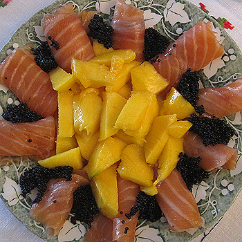 salmó amb mango